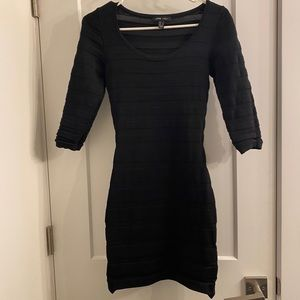 Black Dress, tight, 3/4 sleeve